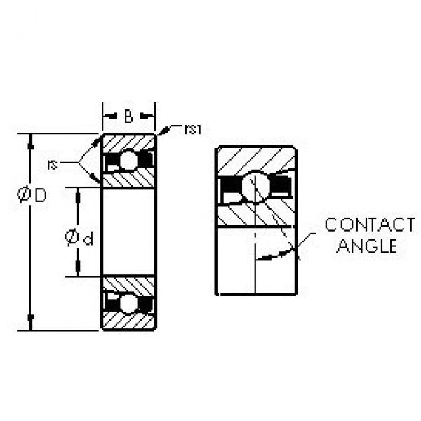 AST H7026AC/HQ1 angular contact ball bearings #3 image