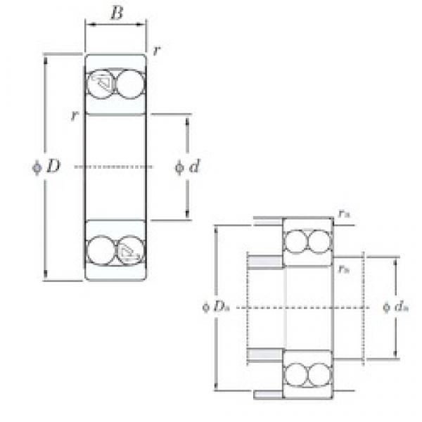 KOYO 1318 self aligning ball bearings #3 image