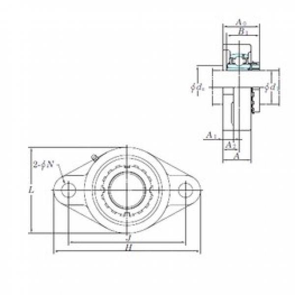 KOYO UKFL207 bearing units #3 image