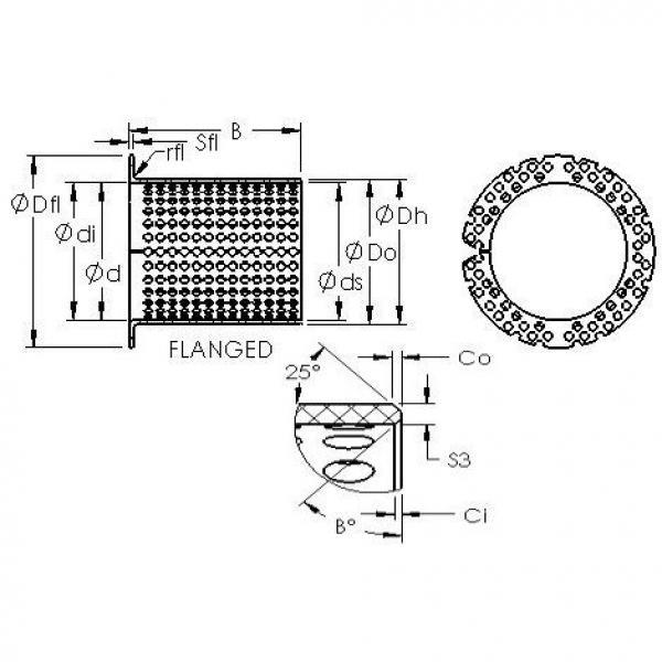 AST ASTT90 F11090 plain bearings #3 image