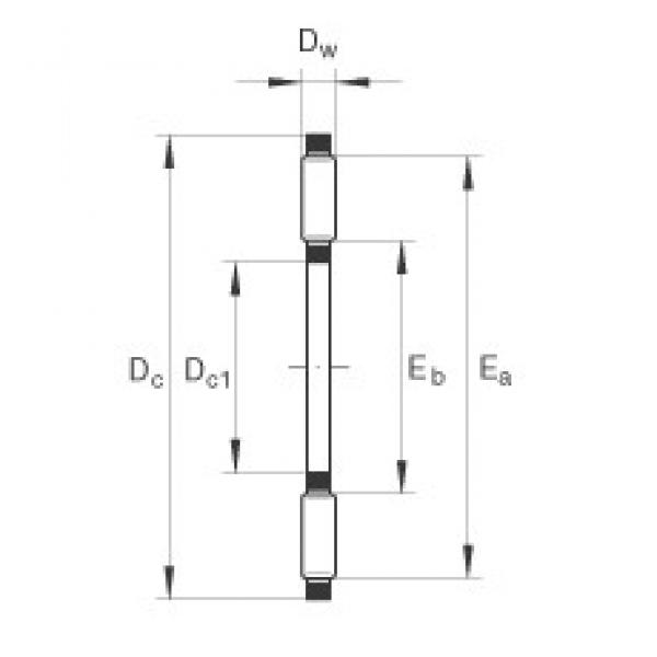INA AXK2542 thrust roller bearings #2 image