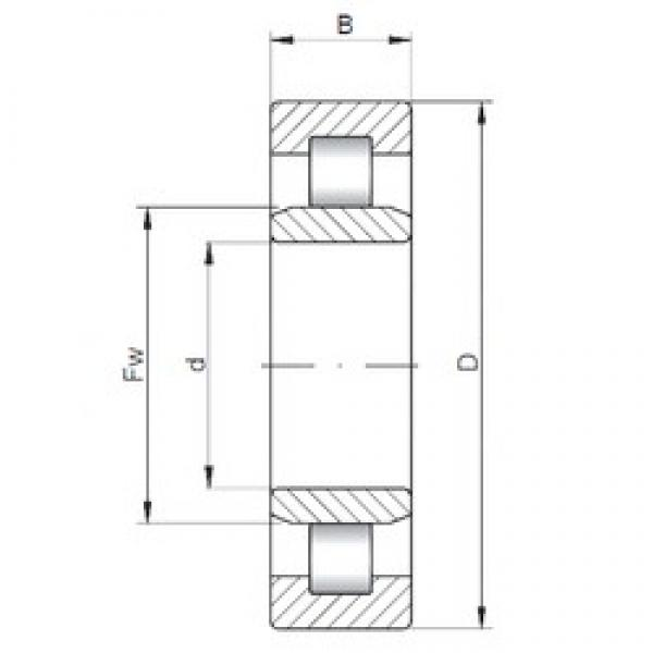 ISO NU3330 cylindrical roller bearings #2 image