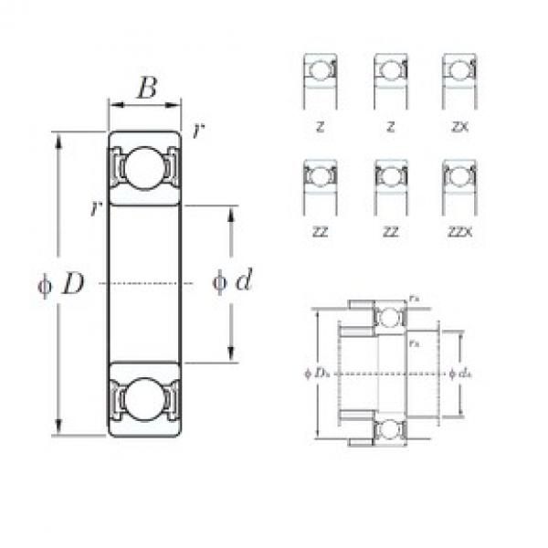 KOYO 6219ZZX deep groove ball bearings #3 image