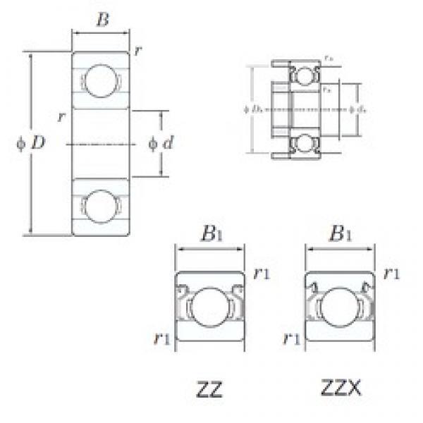 KOYO W686ZZ deep groove ball bearings #3 image