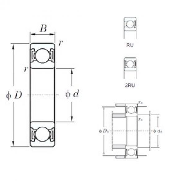 KOYO 6000-2RU deep groove ball bearings #2 image