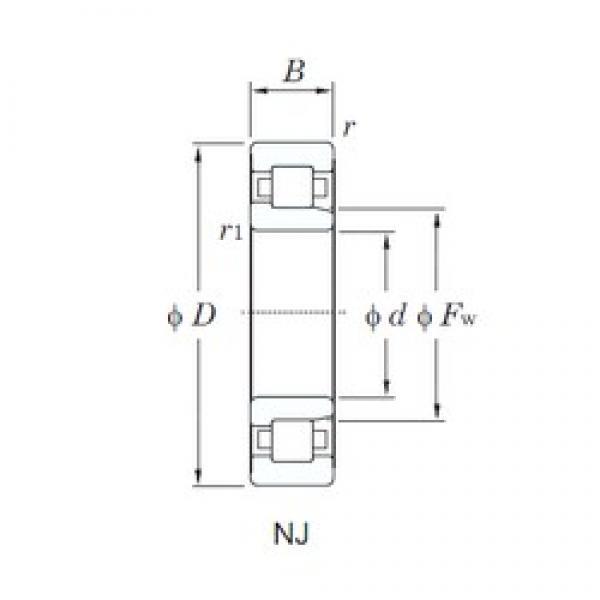 KOYO NJ2206 cylindrical roller bearings #2 image