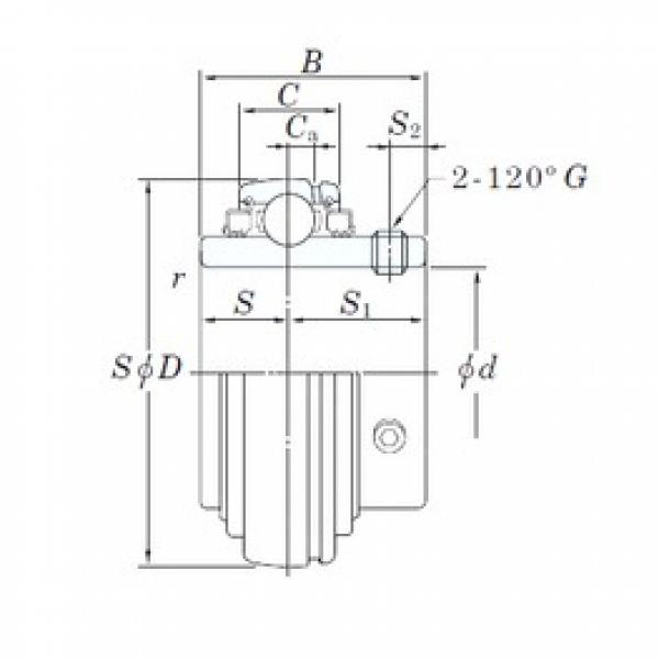 KOYO UC211-34L3 deep groove ball bearings #3 image