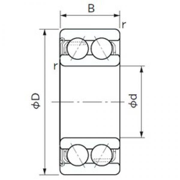 NACHI 5208Z angular contact ball bearings #2 image