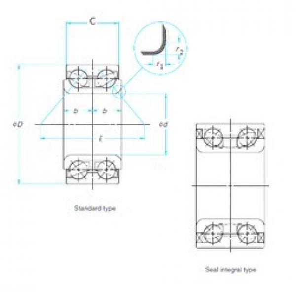 KOYO DAC306037-2RS angular contact ball bearings #2 image